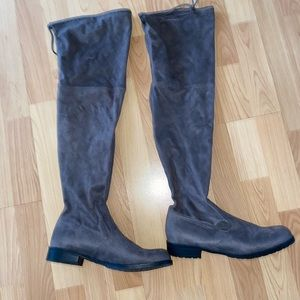 Above Knee Gray Boots